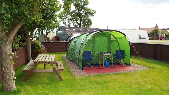 Lundin Links, UK: Camping corral (Pitch 17)