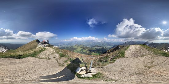 Moleson, Switzerland: view from top of the summit