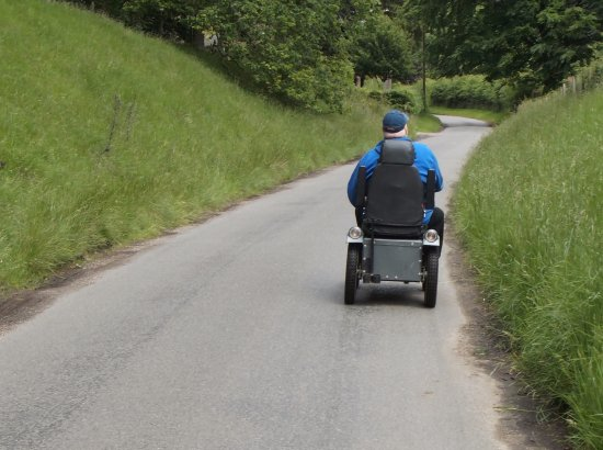 Parco nazionale di Peak District, UK: The Tramper Mobility scooter made it all possible for me