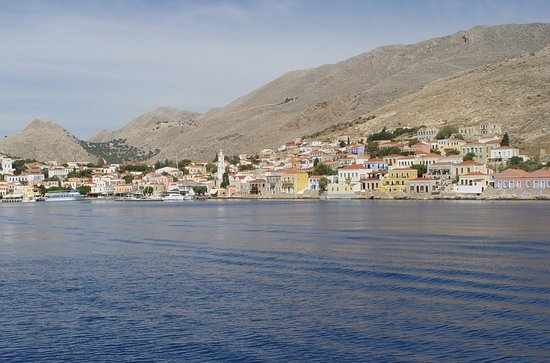 Halki, Greece: о.Халки, вид с парома