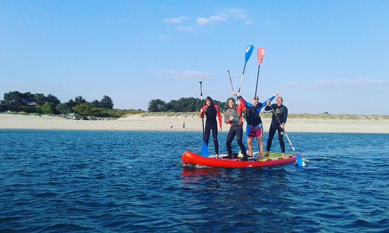Morbihan, Fransa: Location de paddle géant au Club Nautique du Rohu
