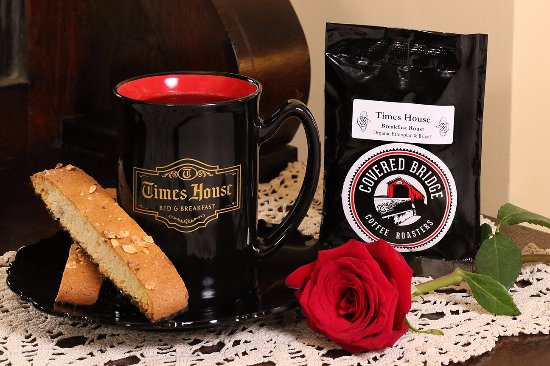 The Times House has partnered with Covered Bridge Coffee Roasters to develop our very own blend.