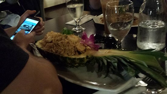 My friend's Hawaiian fried rice  - Picture of Siam Nara Thai Cuisine