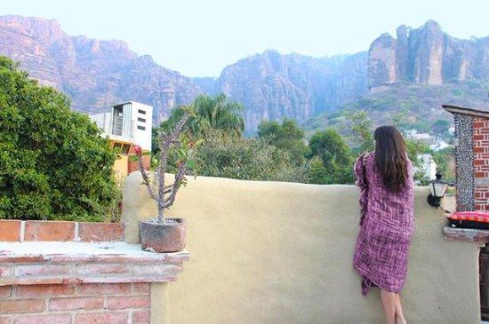 """La Casa del Arrayan : Vista de nuestra terraza - Bungalow """" El Palomar """""""
