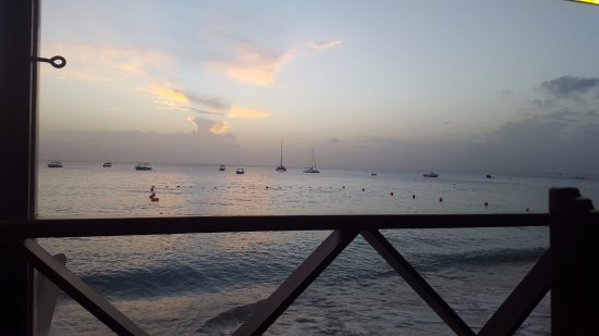 Holetown, Barbados: View from Zaccios