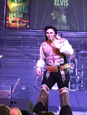 Golden Nugget Hotel: Great Elvis show. Fremont Street is not for kids!!!!