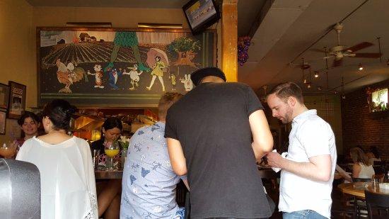 Table Six: lively bar scene