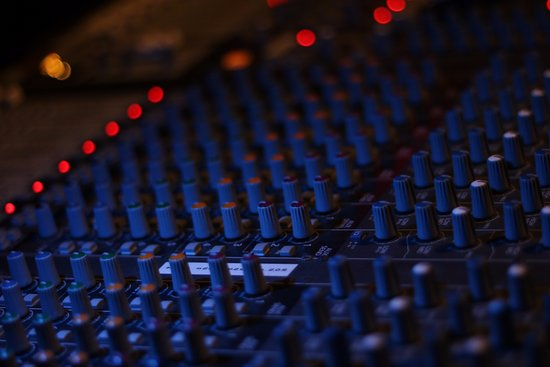 Ellsworth, ME: A shot of our sound board.