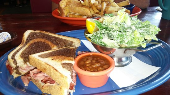 Little Fort, Canada: The baked beans homemade and the very best I've had since my Grandma's This is the Reuben sandwi