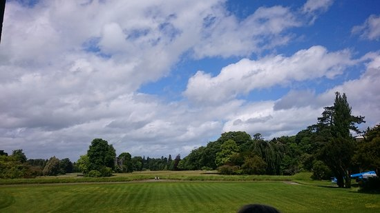 Birr, Ireland: view from castle entrance
