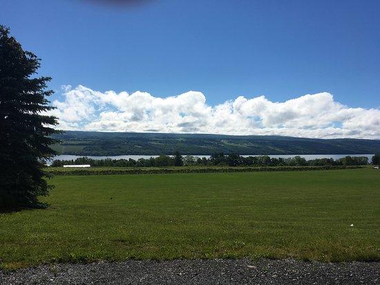 The Inn at Glenora Wine Cellars : View of Seneca Lake from Glenora Winery