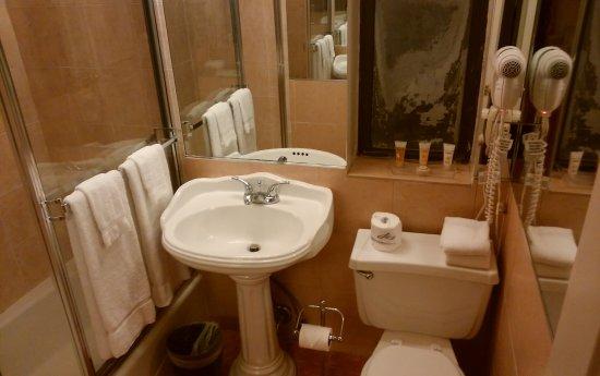 The Milburn Hotel: 左側にバスタブがありました(不具合が起きて途中で修理を依頼しました。)