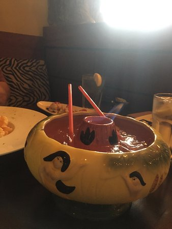 Newtown, CT: Large Scorpion Bowl (yes, that's a flame)