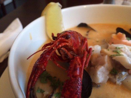 Langesund, Noorwegen: Tasty fish soup