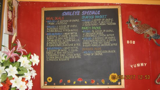 Westport, New Zealand: Up dated menu bord ,