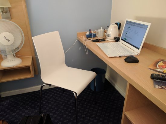 The Large desk and cheapest and most uncomfortable chair ever