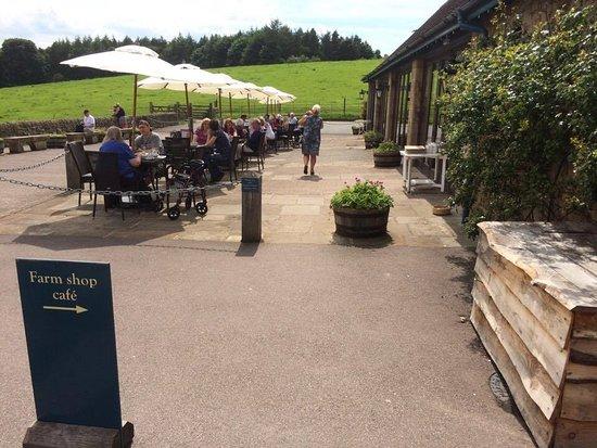 Chatsworth Estate Farm Shop Cafe: Dining alfresco at Chatsworth