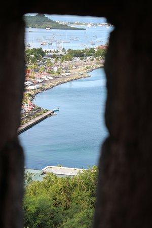 Marigot, St-Martin/St Maarten: View through the musket firing holes