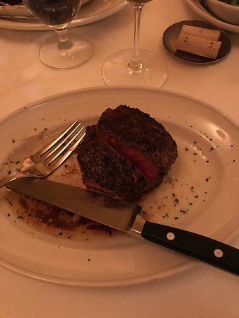 Great Steaks and wine with excellent service