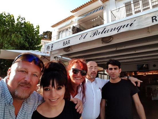 Tamariu, Hiszpania: Wir mit den guten Geistern des El Palanqui