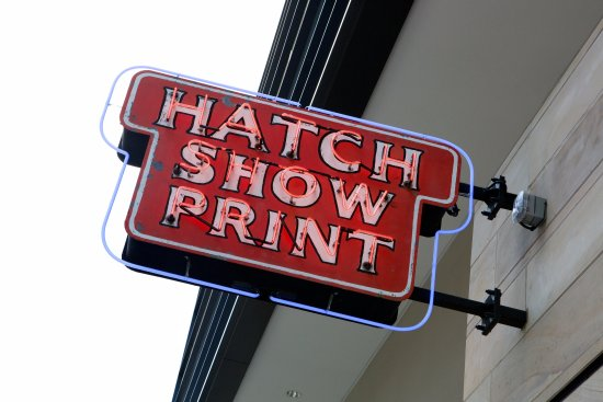 Hatch Show Print: The Fifth Ave entrance