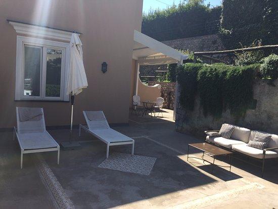 Villa Marina Capri Hotel & Spa: Zimmer Castello mit riesiger Terrasse