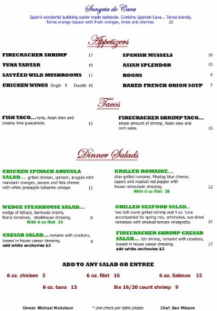 Ellicottville, NY: Summer Menu