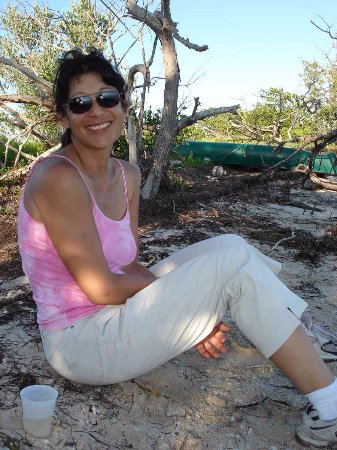 Florida City, FL: Sitting besides Florida Bay with the canoe and mangroves behind me.