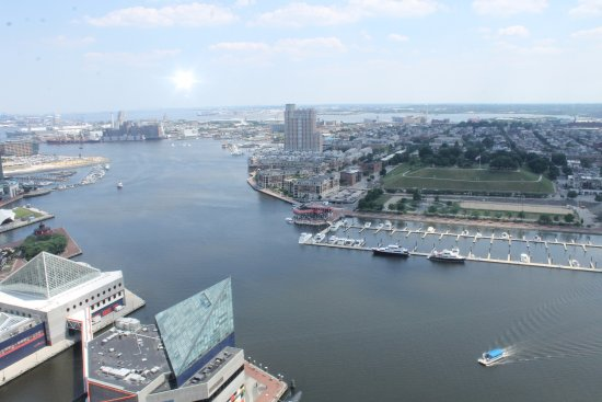 Top of the World Observation Level: View from Baltimore World Trade Center