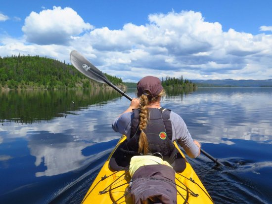 Smithers, Canada: Kayak touring on Babine Lake.