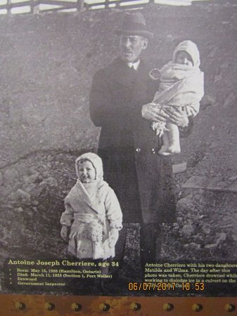 St. Catharines, Canada: This man drowned the day after this picture was taken with his daughters
