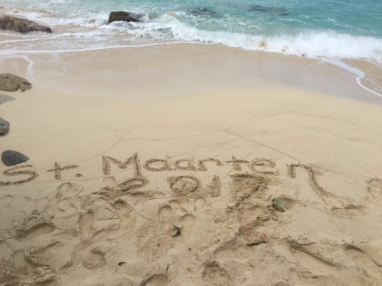 Cupecoy Bay, St Martin / St Maarten: The beach is beautiful to see, but a bit rough and rocky.