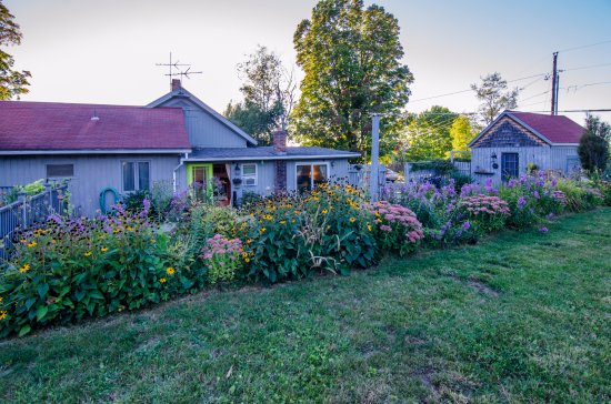 Charlotte, VT: Relax in the garden on a hammock or in a chair 'round the fire pit or a table