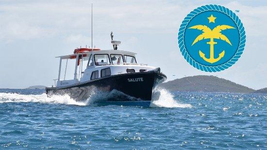 Cruz Bay, St. John: Salute and our emblem!