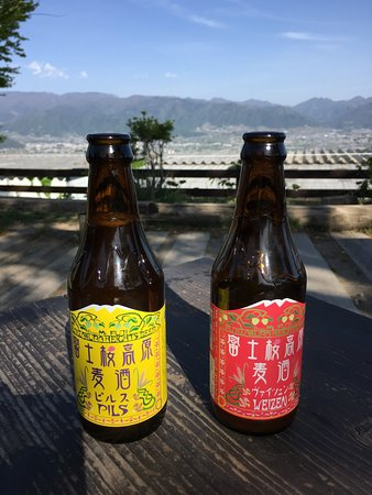 Hottarakashi Onsen : 絶景を見ながらビール。