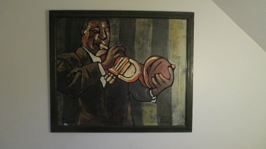 La Loggia Art & Breakfast : Painting in Stairs Hallway