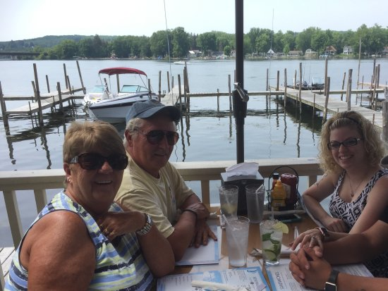 Bemus Point, NY: Granddaughter and husband with us for lunch