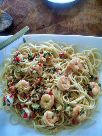 Manzanillo, Costa Rica: Shrimp and pasta