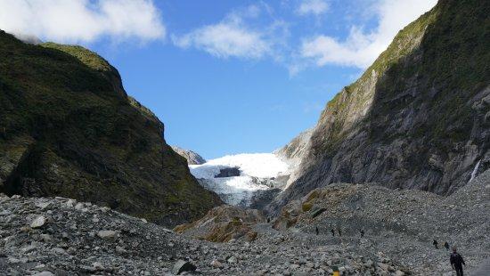 Franz Josef, New Zealand: glacier from a distance