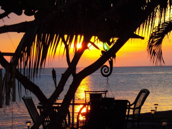 Blue Angel Resort: One of the lovely sunsets of Cozumel from Blue Angel