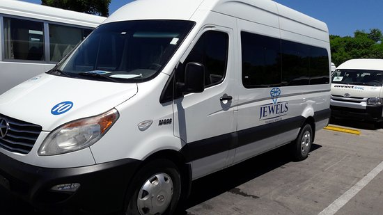 Punta Cana, Dominican Republic: 12 Seater minibus with rear luggage compartment