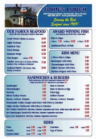 Menu 1 of 2 seafood fish kids sandwiches and burgers for One fish two fish menu