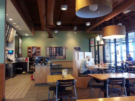Niles, IL: the dining area at Noodles & Company