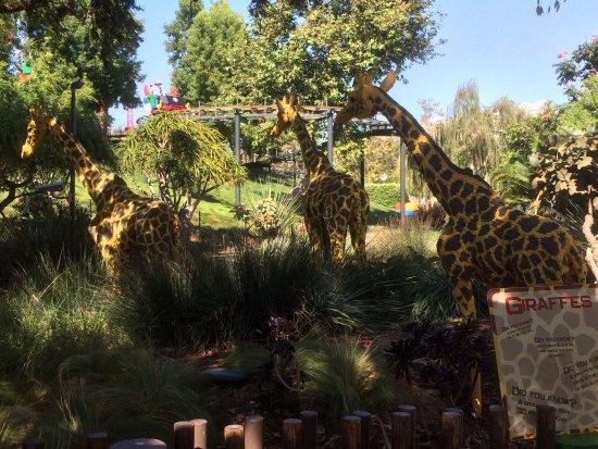 LEGOLAND California: zoo animals built out of Lego bricks on a safari ride