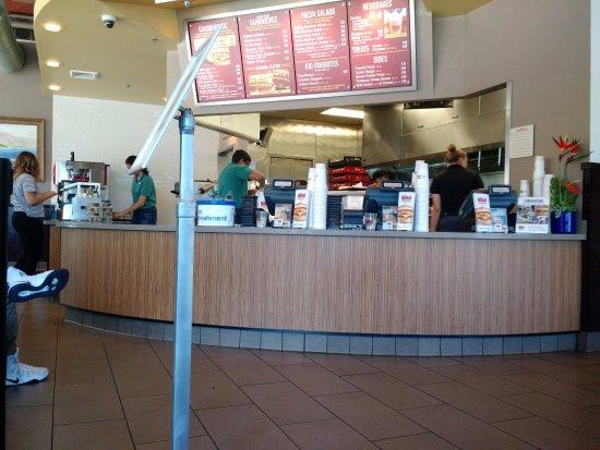 Pleasanton, CA: Order counter