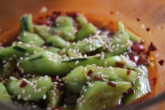 Dali, China: The cucumber salad
