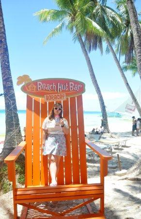 Beach Hut Bar Boracay Sipping A Huge Mug Of Mango Shake By This Giant