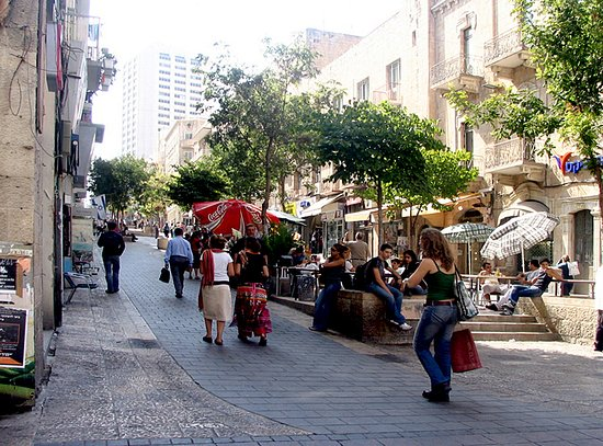 Jérusalem, Israël : Zion Square in the downtown area of jerusalem