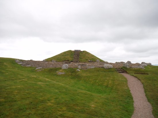 Bathgate, UK: The burial cairn.