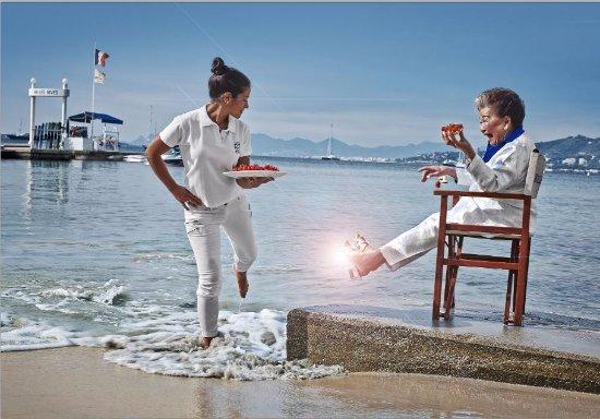 Plage Belles Rives : Beach Service